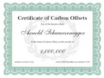 free carbon offset certificate
